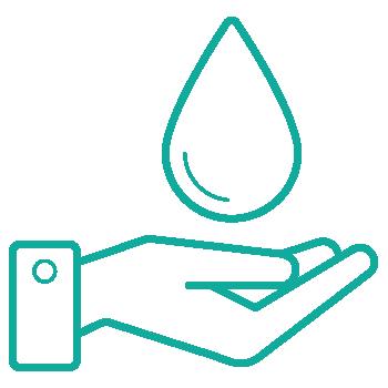 liter vand sparet