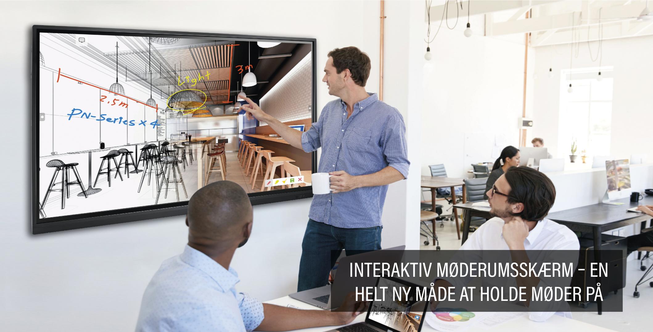 Interaktiv møderumsskærm - en helt ny måde at holde møde på